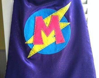 Purple Superhero Cape -PERSONALIZE/CUSTOMIZE - Superhero Costume- Superhero Birthday Party