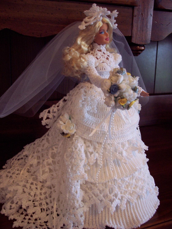 Sale Victorian Wedding Dress Barbie Bed Doll