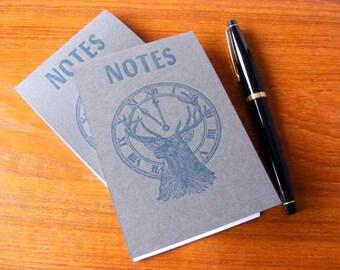 Elk Notes Blue Gray Letterpress Notepad