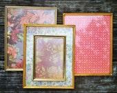Lot of Ornate Vintage Photo Frames, Brass Finish