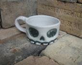 Stoneware Skull Shaving Mug