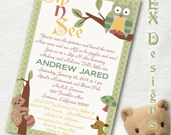 DIY Digital Enchanted Forest Invitation (Lambs and Ivy) Printable