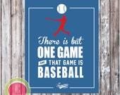 BASEBALL SIGN - Baseball Party Printables - Instant Download - Designs by WC Designs