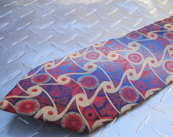 BKool Vintage Wembly Tie, Blues Reds and Gold, Mens Ties, Excellent Cond.