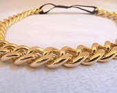 Gold Headband, Chain Headband, Fashion Headband