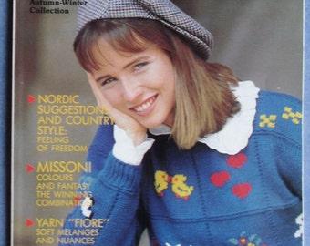 Vintage Filatura Di Crosa Autumn-Winter Collection Italian Knitting Missoni Nordic 1989