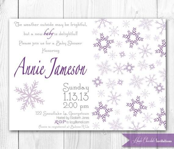 winter snowflake baby shower invitation snowflake baby sprinkle