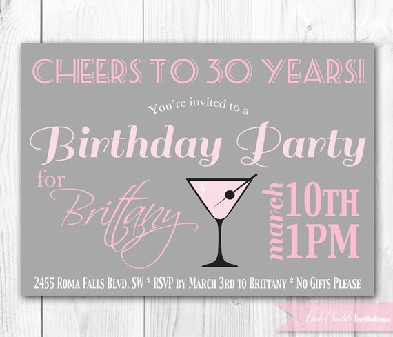 30Th Invite Wording with beautiful invitations design