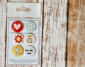 """Badges / Adhesive buttons """"Homemade"""" - kitchen appliances / cook / cooking / retro"""