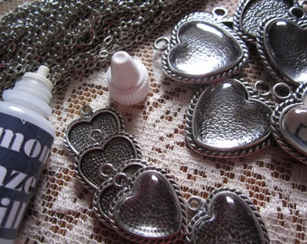 Make your own Photo Pendant Charm Necklaces Complete Makes 12 complete