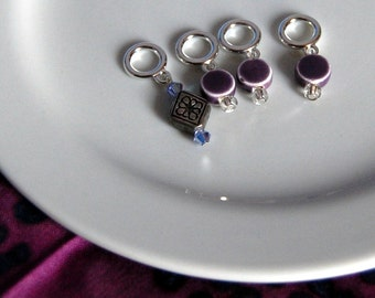 Sock Stitch Markers Celtic Purple
