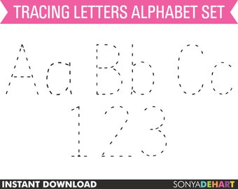Clipart Digital Alphabet Tracing Dotted Practice Letters Teacher Clip Art
