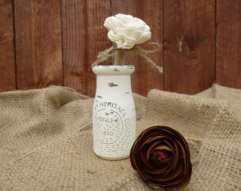 Shabby Chic-Beach Wedding Milk Jug -Vase-Center Piece-Decoration-Pen Holder