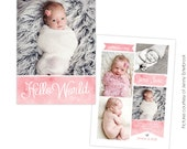 Birth announcement template -  Sweet Jane  - E760