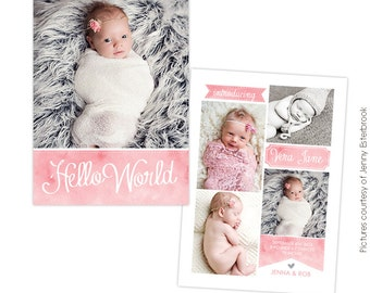 Birth announcement template -  Sweet Jane  - E760