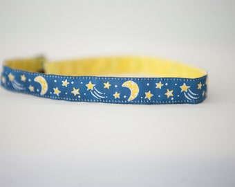 No Slip Headband Midnight Moon Sleepover 5/8""