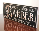 Personalized Wooden Established Sign, Custom Last Name Sign,  Benchmark Custom Signs Maple BV