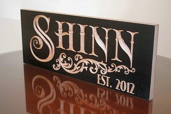 5th Anniversary Gift, Custom Established Sign, Benchmark Custom Signs Maple SN