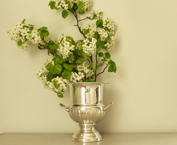 Silver plated champagne bucket chiller vase party by