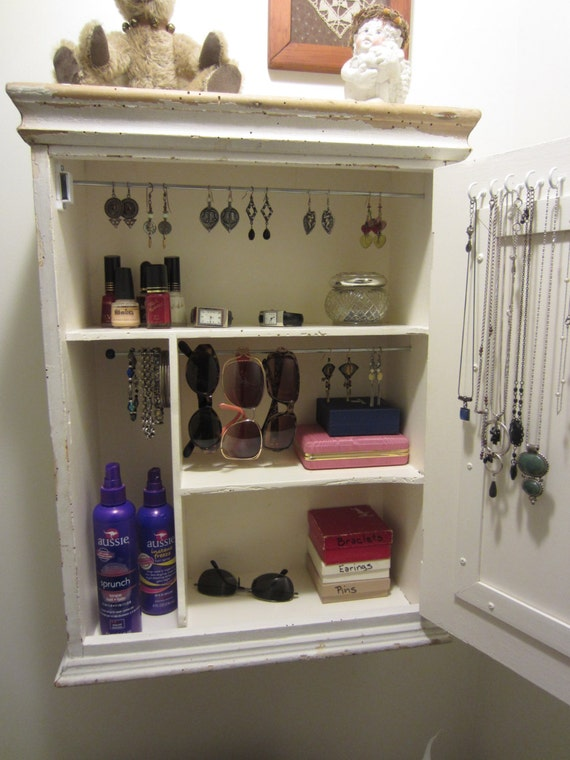 - Jewelry Organizer Jewelry Storage Jewelry Cabinet Repurposed