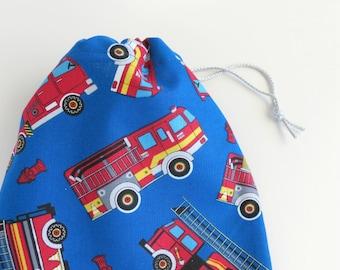 Fire Truck Gift Bag Fire Engine Cloth Bag Birthday
