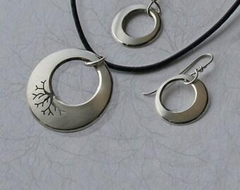Silver Pendant, Silver Earrings, Silver Jewelry, Tree Jewellery, 'Roots'.