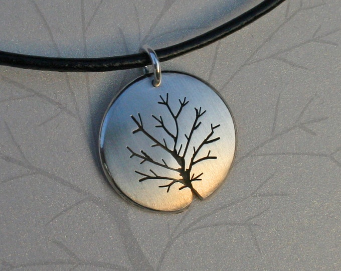 Silver Tree Pendant, Silver Jewelry, Silver Pendant, Silver Jewellery.