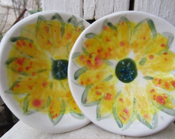 Two Sunflower Dishes