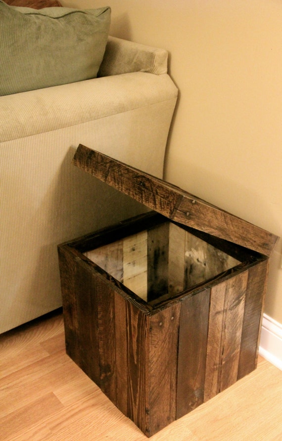 Like this item? - Reclaimed Pallet Wood Furniture Storage Cubed Ottoman