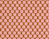 HUGE SALE- 1 Yard Fabric-Lotus Full Moon Polka Dot in Camel by Amy Butler Fabrics
