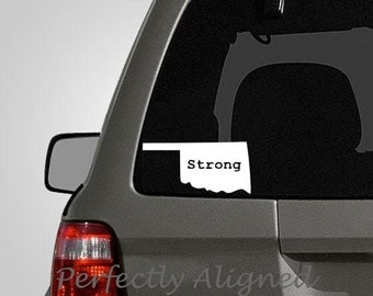 Oklahoma Strong Vinyl Decal - Support your home state decal for car windows, macbooks, etc...