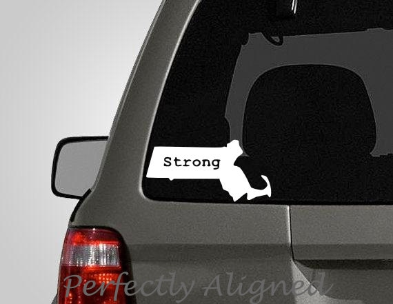 Massachusetts Boston Strong Vinyl Decal Support Your Home - Custom vinyl decals boston