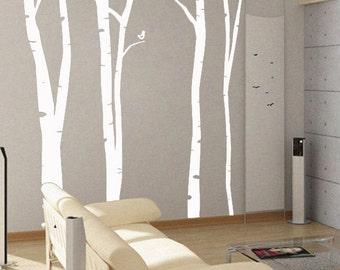 Birch Trees- uBer Decals Wall Decal Vinyl Decor Art  A100