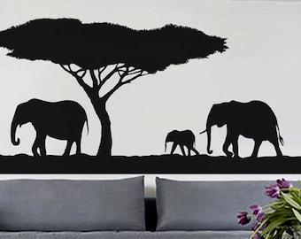 African Safari 2 - uBer Decals Wall Decal Vinyl Decor Art Sticker Removable Mural Modern A413