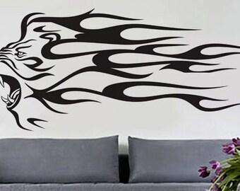 Lion - uBer Decals Wall Decal Vinyl Decor Art Sticker Removable Mural Modern A429