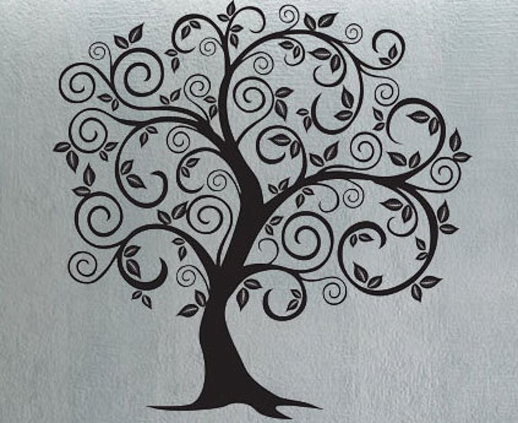Swirly Tree 6 Uber Decals Wall Decal Vinyl Decor By Uberdecals