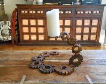 Stupendous Candlestick Made of Gears Wedding Gift