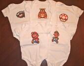 Super Mario Bodysuits - Choice of 2