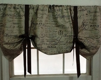 Script Valance Etsy - French country valances