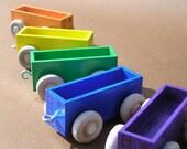 Wooden Toy Train Colored Gondola Car