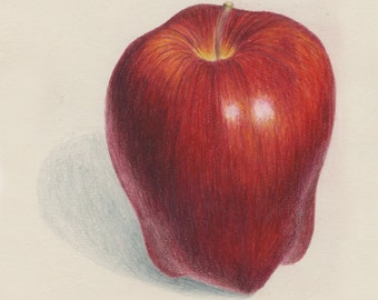 Red Apple Drawing print