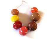 Clay Beads, Handmade ceramic beads, African