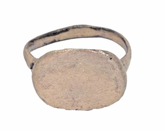 Authentic Ancient Byzantine Ring 12th Century  Size 7 1/4 (17.9mm)[PWR436]