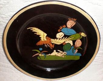 Small Black Tlaquepaque Plate