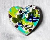 OOAK Cottage Chic Heart Fridge Magnet