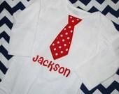 Boy's Valentines Tie Onesie/Shirt