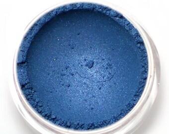 "Shimmery Blue Eyeshadow - ""Oceans"" - Deep Sapphire Blue Vegan Mineral Eyeshadow Net Wt 2g"