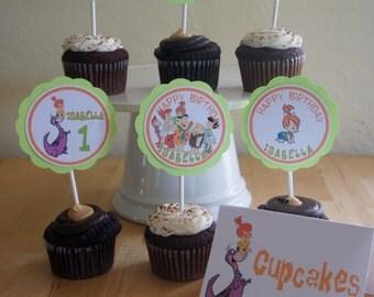 Pebbles Flintstone Cupcake Toppers