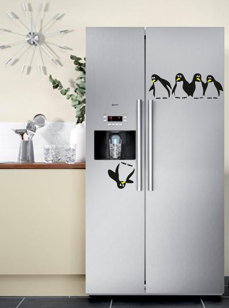 Save the penguin fridge decal for Stickers decorativos