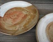 Stoneware Dinner Plates with Shino Glaze